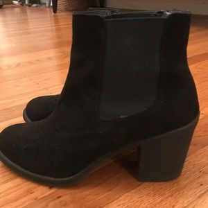 H&M Black Suede Ankle Boot